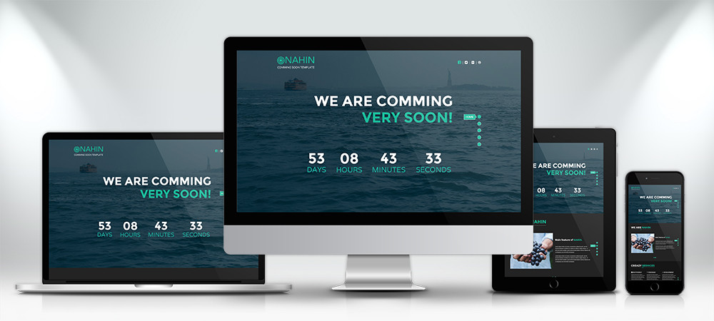 Nahin Free HTML Coming Soon Template