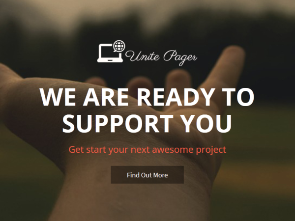 Released Unite Pager – One Page Wordpress Theme