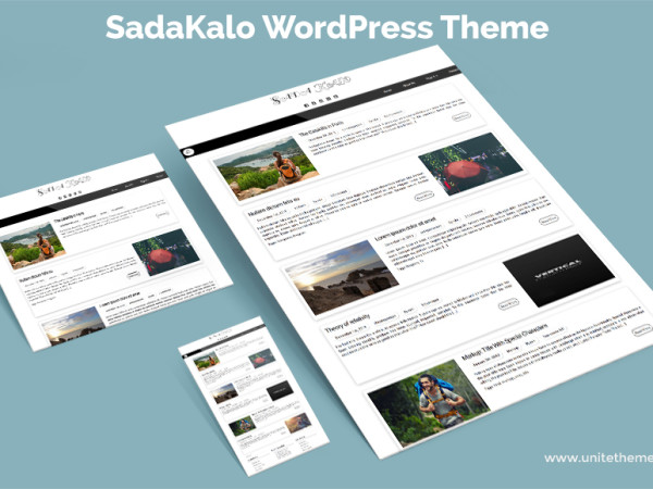 SadaKalo - Free WordPress Blog Theme