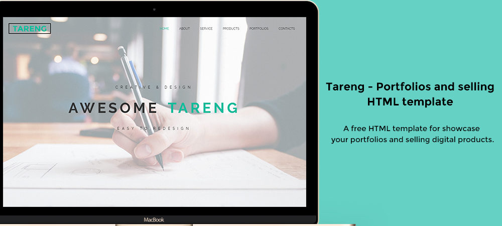 Tareng - Portfolios and selling HTML template