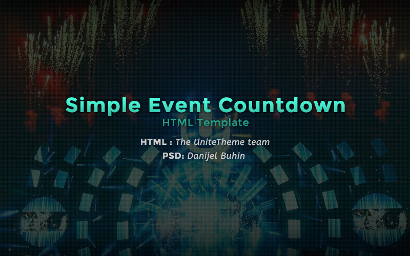 Simple Event Countdown HTML Template