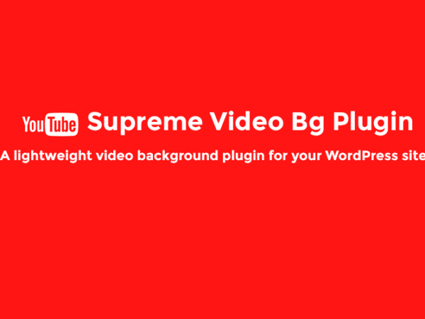 Supreme Video Background Plugin