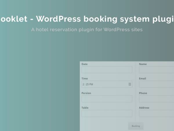 Booklet WordPress Booking System Plugin